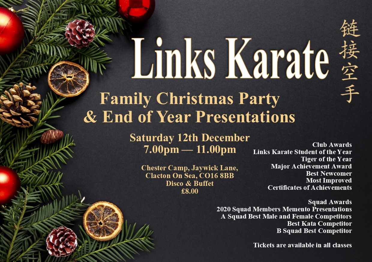 christmas party leaflet